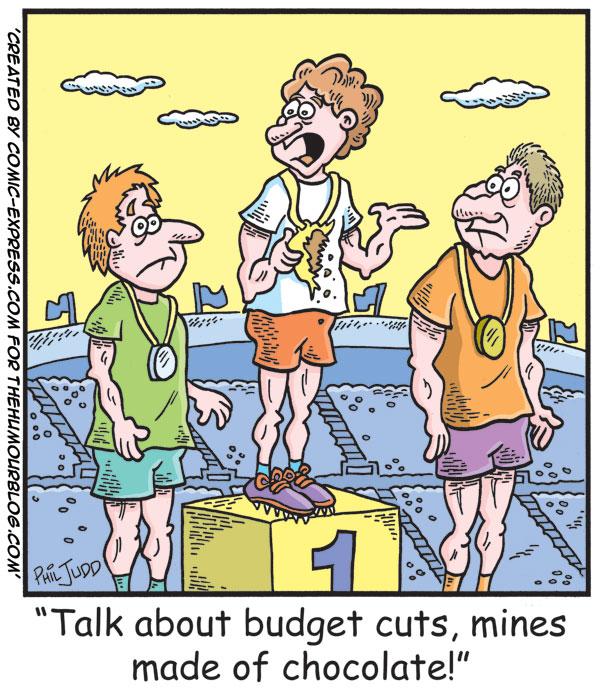 Political Cartoon Budget Cuts Olympics
