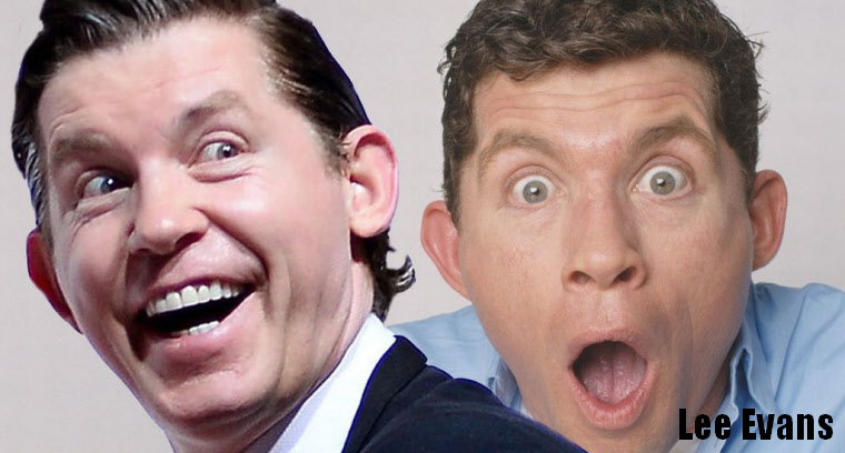 Lee Evans laughs out loud