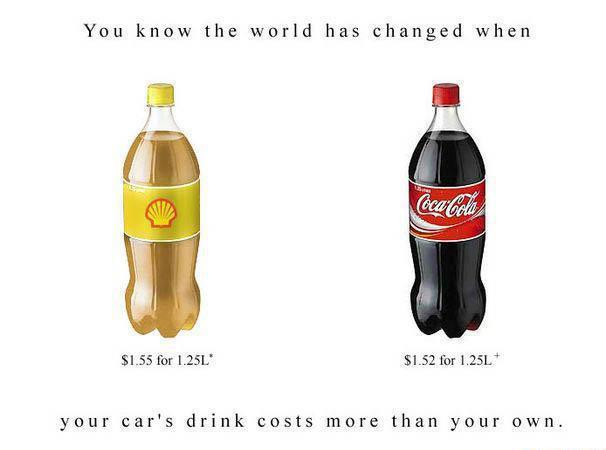 Fuel more expensive than coke
