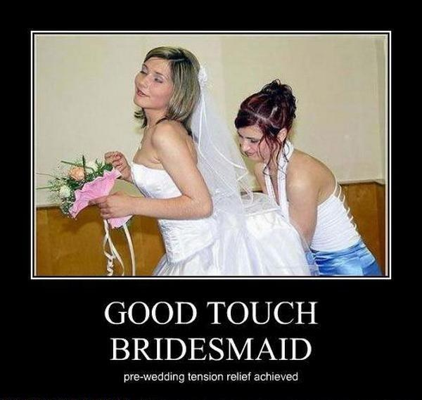 Stop bride getting stressed