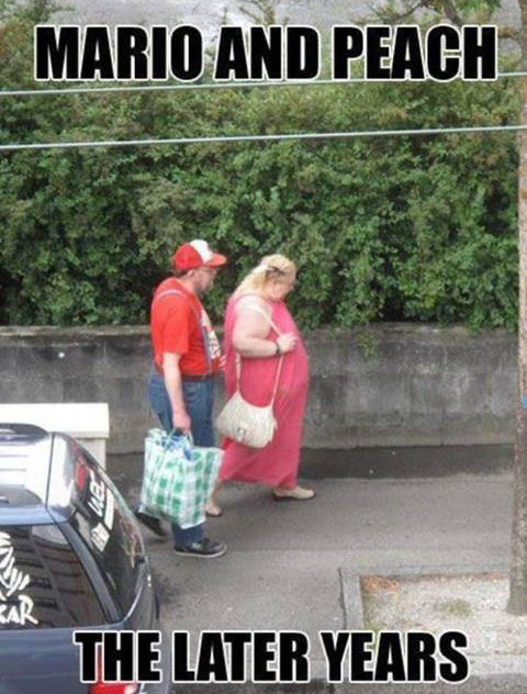Real life mario and peach