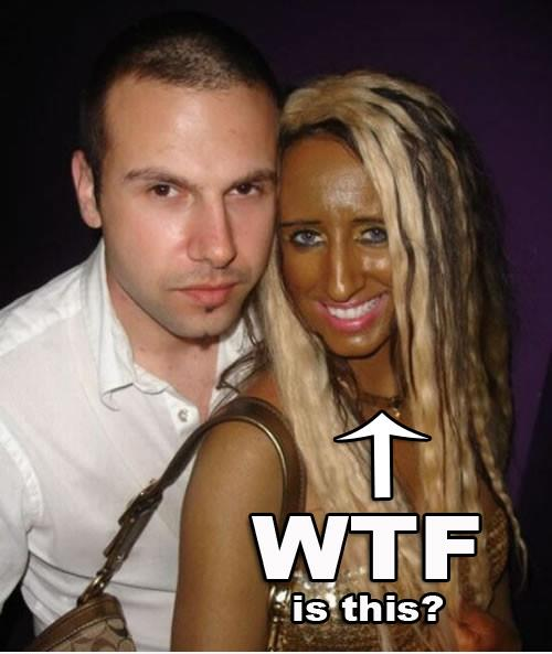 Too much fake tan
