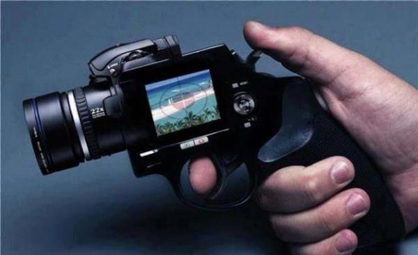 A camera that looks like a gun