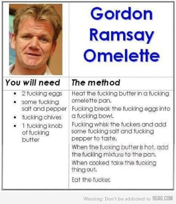 Gordon Ramsey recipe